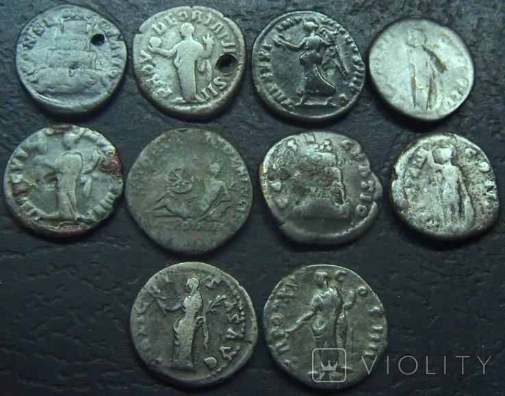 Монеты Древнего Рима (денарии) 10 штук, плюс бонус., фото №4