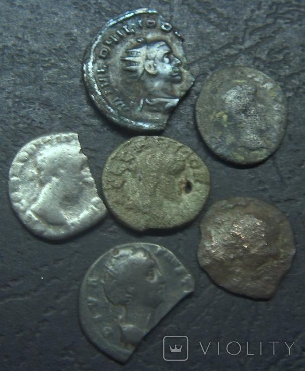 Монеты Древнего Рима (денарии) 10 штук, плюс бонус., фото №5