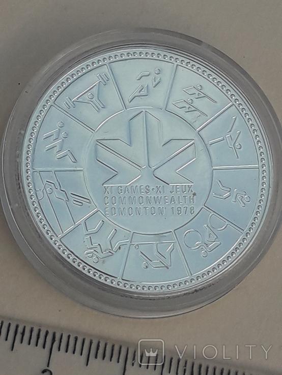 1 доллар, Канада, 1978 год, XI игры содружества в Эдмонтоне, серебро, фото №4