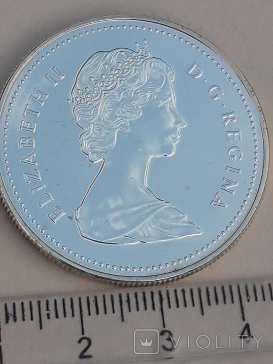 1 доллар, Канада, 1988 год, 250 лет кузницам Сен-Мориса, серебро, 23.38 грамма, фото №2