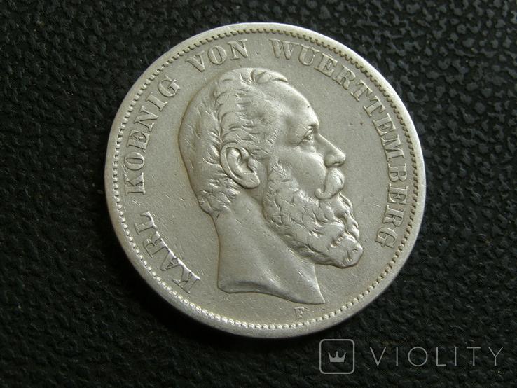 5 марок 1875 г F. Карл, Вюртемберг, фото №3