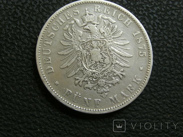 5 марок 1875 г F. Карл, Вюртемберг, фото №5