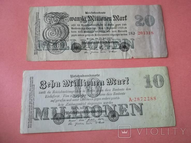 29 банкнот Германии. Довоенные., фото №2