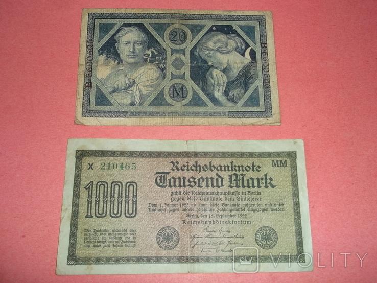 29 банкнот Германии. Довоенные., фото №11