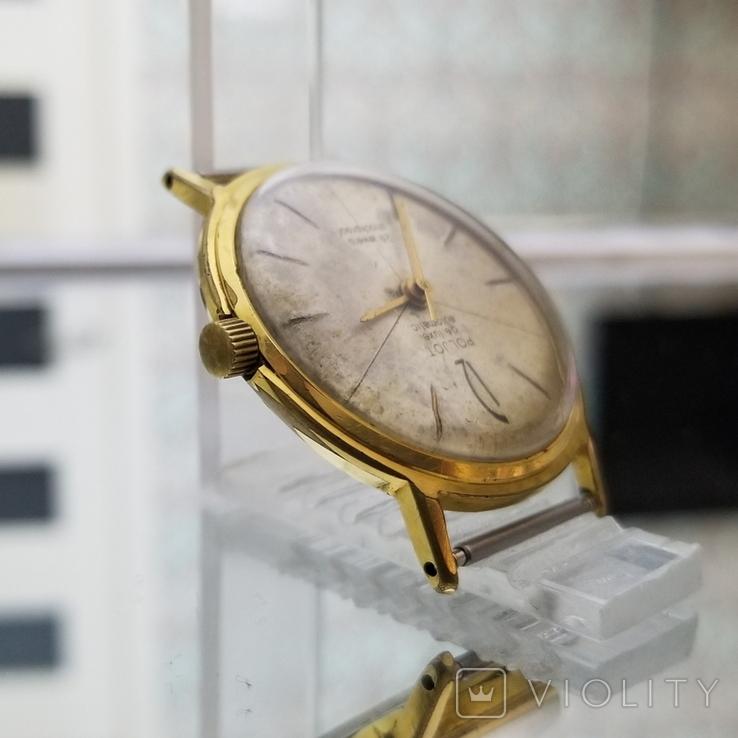 Позолоченные часы Полет де Люкс 29 камней Автоподзавод ау20 СССР (на ходу), фото №5