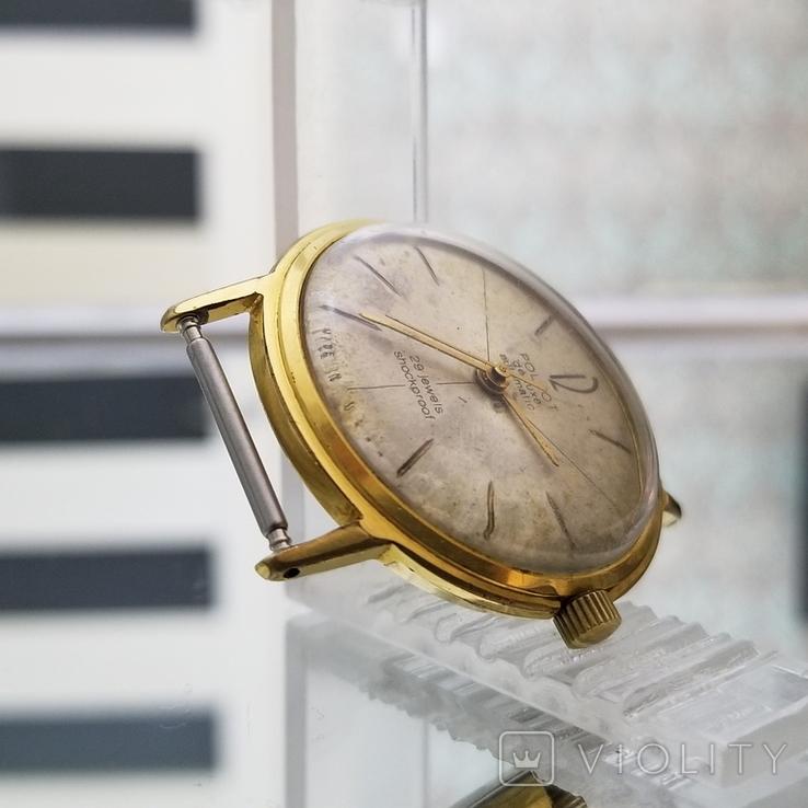 Позолоченные часы Полет де Люкс 29 камней Автоподзавод ау20 СССР (на ходу), фото №6