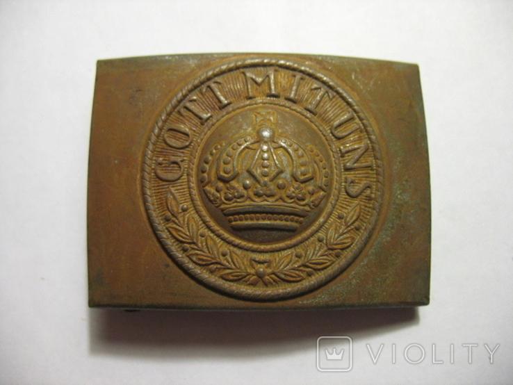 Пряжка Германия GMU по ПМВ, сталь. копия, фото №2