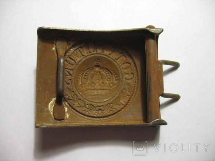 Пряжка Германия GMU по ПМВ, сталь. копия, фото №3