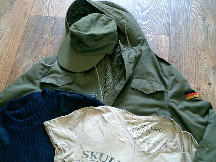 Комплект Германия (куртка,свитер,футболка ,кепка)разм.М, фото №4