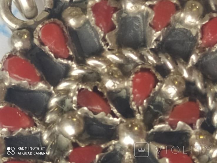 Колье и серьги серебро, фото №4