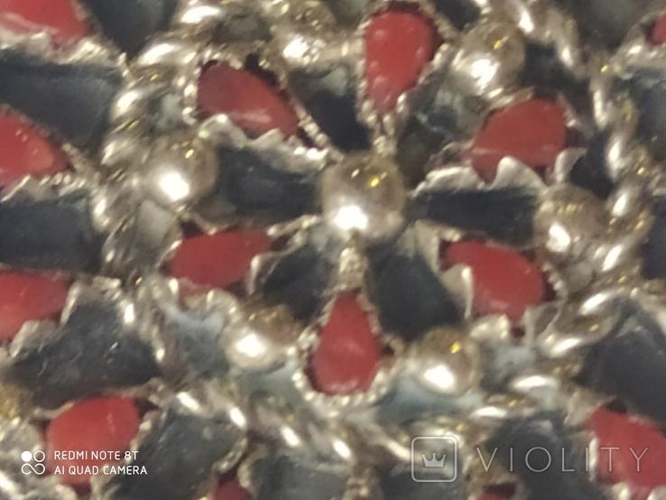 Колье и серьги серебро, фото №6