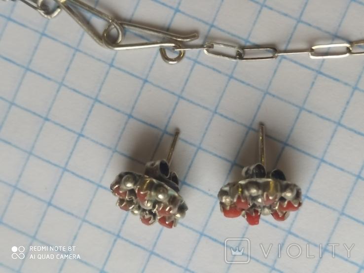 Колье и серьги серебро, фото №8
