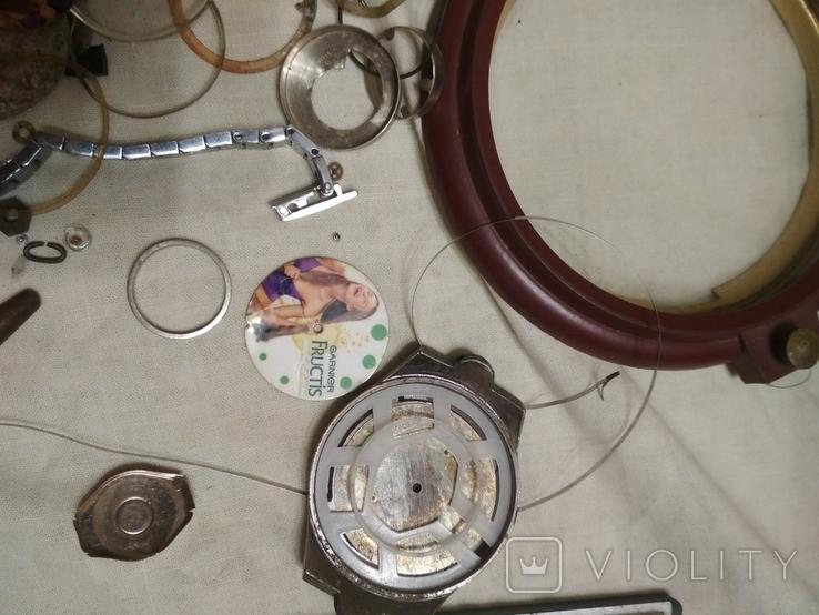 Разные часовые запчасти из ящика часовщика, фото №7