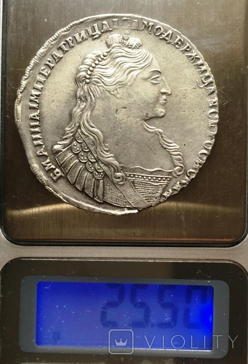 1 рубль Анны Иоанновны 1737 года. Портрет со скошенным лбом., фото №6