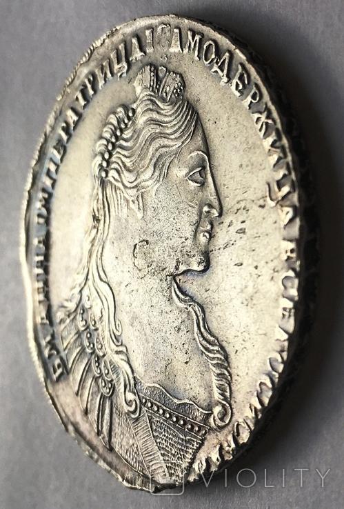 1 рубль Анны Иоанновны 1737 года. Портрет со скошенным лбом., фото №7
