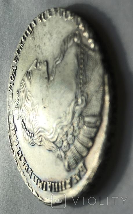 1 рубль Анны Иоанновны 1737 года. Портрет со скошенным лбом., фото №8