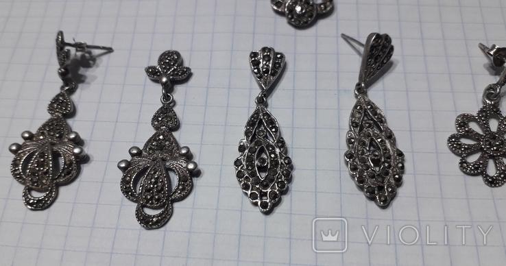 Серьги женские,с камнями, фото №4