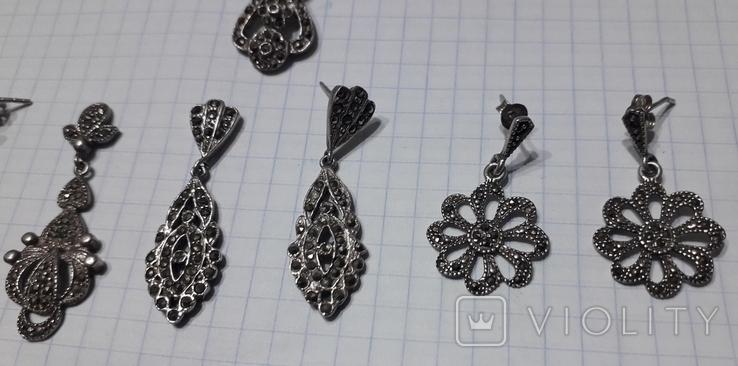 Серьги женские,с камнями, фото №5