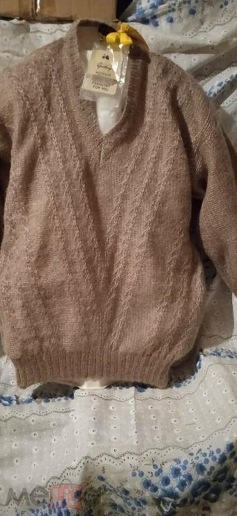 Винтажный мохеровый свитер сV-образным вырезом. Индия. Гретвей. 46р, фото №2