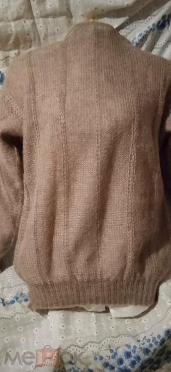 Винтажный мохеровый свитер сV-образным вырезом. Индия. Гретвей. 46р, фото №3