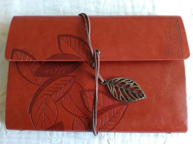 Блокнот для записей в кожаной обкладке(см описание), фото №2