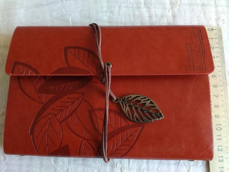 Блокнот для записей в кожаной обкладке(см описание), фото №4