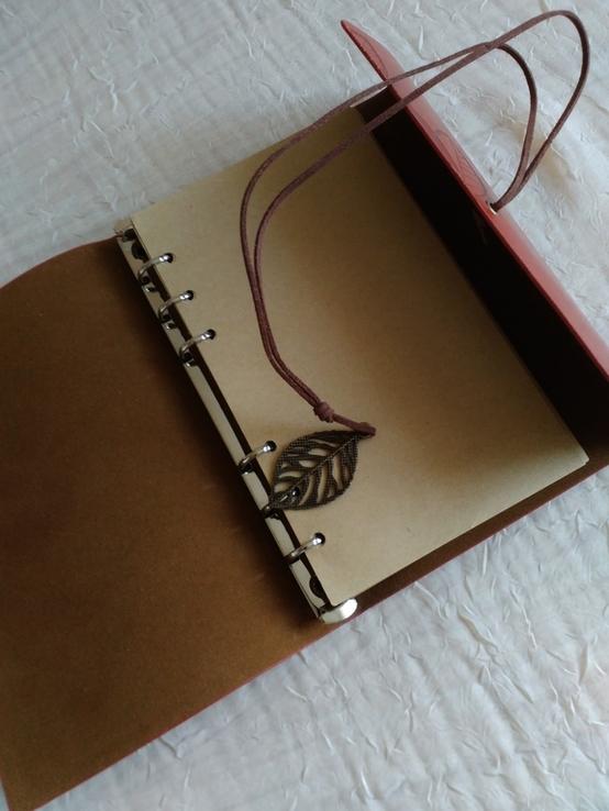 Блокнот для записей в кожаной обкладке(см описание), фото №8