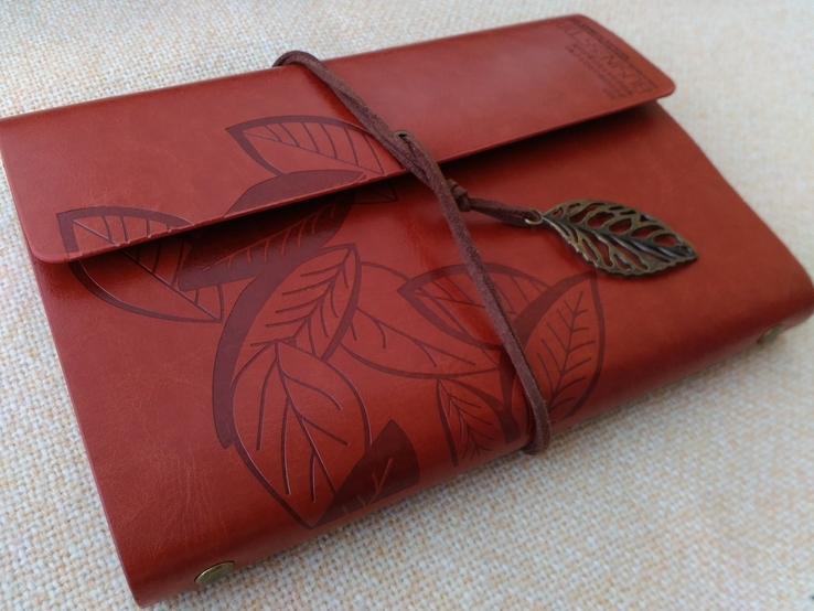 Блокнот для записей в кожаной обкладке(см описание), фото №11