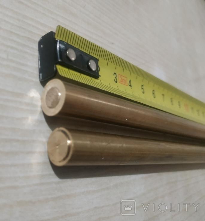 Прутки латунь диаметр 10 мм 2 шт, фото №6