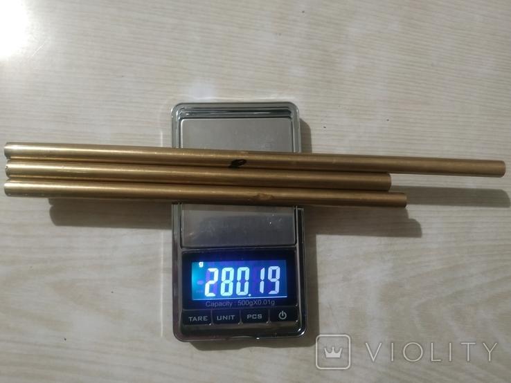 Прутки латунь диаметр 8 мм 3 шт, фото №6