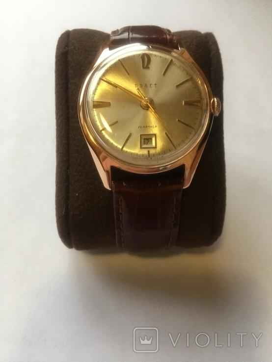 Золотые часы Полет, фото №4