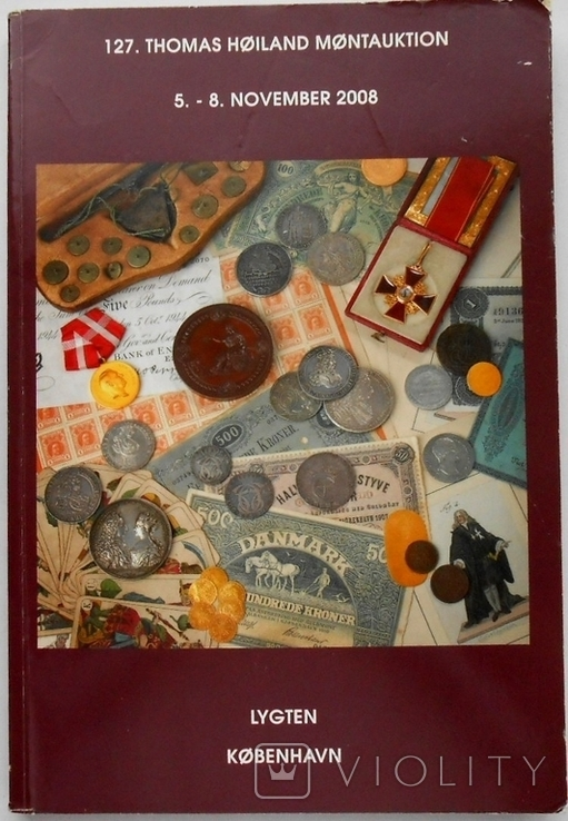 2008 г. Аукционник Thomas Hoiland Montauktion Монеты Награды 320 стр. Тираж ? (2000), фото №2
