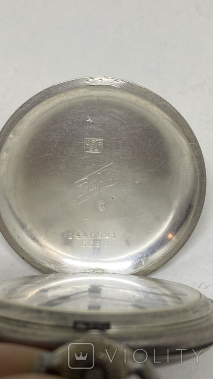 Часы карманные серебро 84пр, фото №5