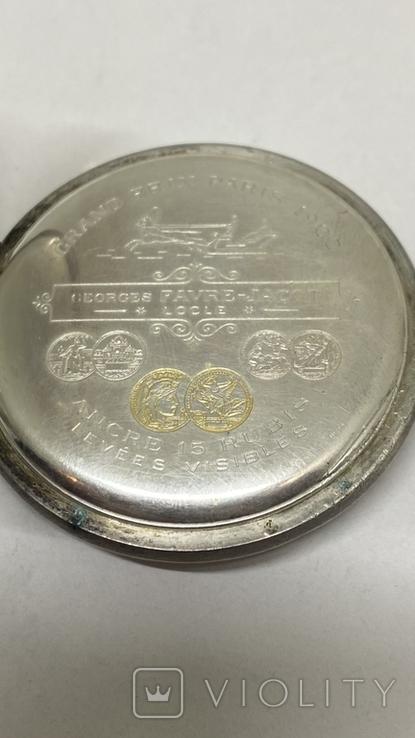 Часы карманные серебро 84пр, фото №8