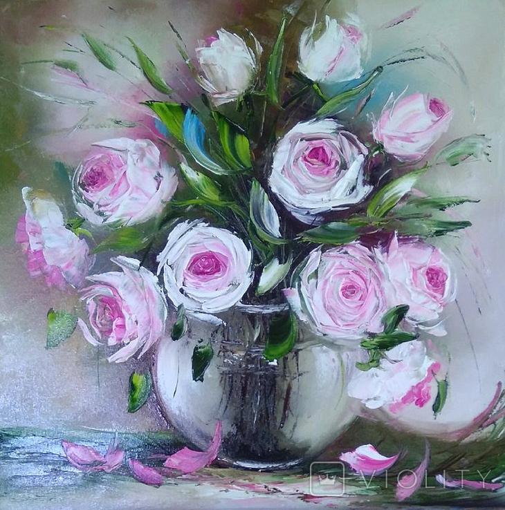 Картина Розы масло живопись