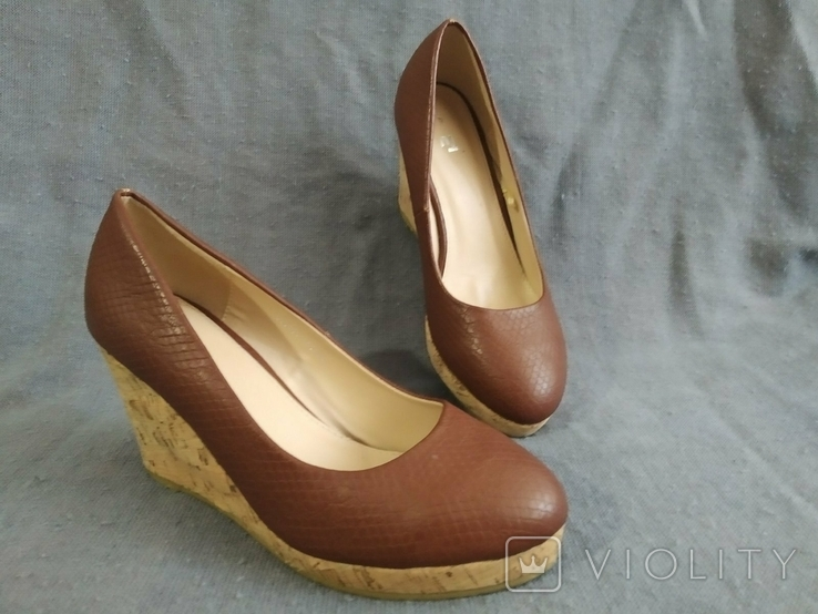 Туфли Корок Кожа TU из Англии 38 размер, фото №10