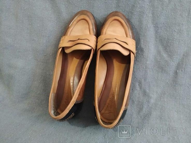 Туфли CLARKS Англия Кожа 39, фото №7