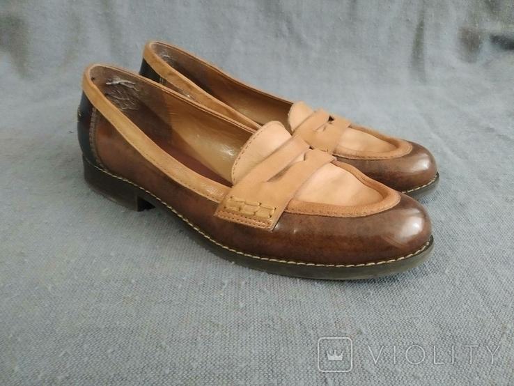 Туфли CLARKS Англия Кожа 39, фото №2