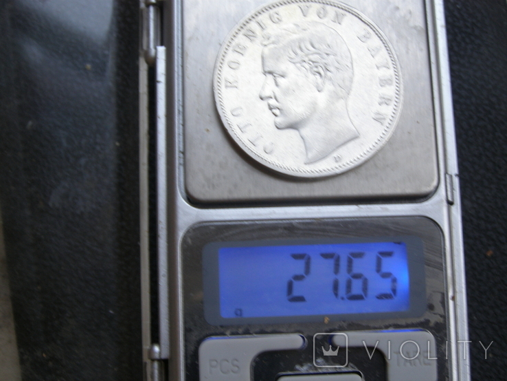 5 марок 1904 D Бавария. Отто., фото №8