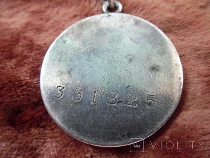 Медаль СССР За боевые заслуги. № 331225 - Диапазон 1942 года., фото №8