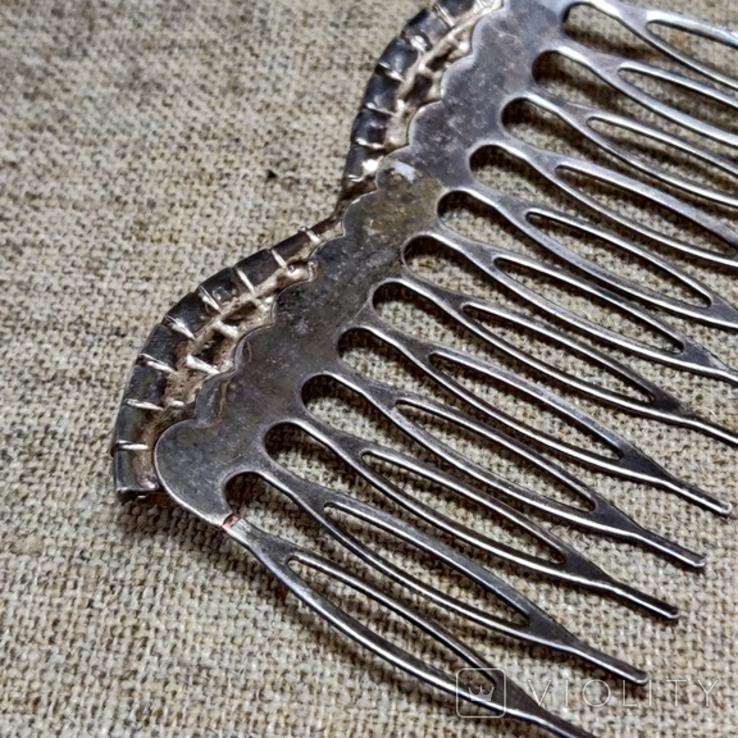 Гребешок для волос заколка посеребрение, фото №5