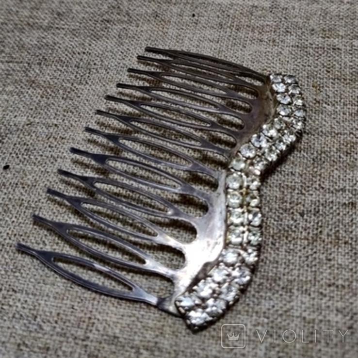 Гребешок для волос заколка посеребрение, фото №8