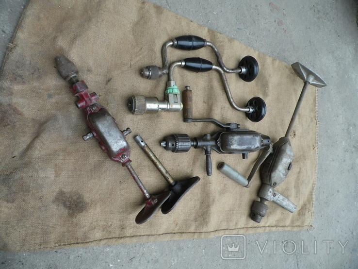 Ручная дрель ссср 5 шт у лоті, фото №2