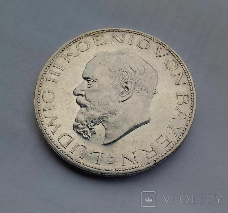 1914 г - 5 марок Германии,Людвиг 3 ,Бавария,серебро, фото №8