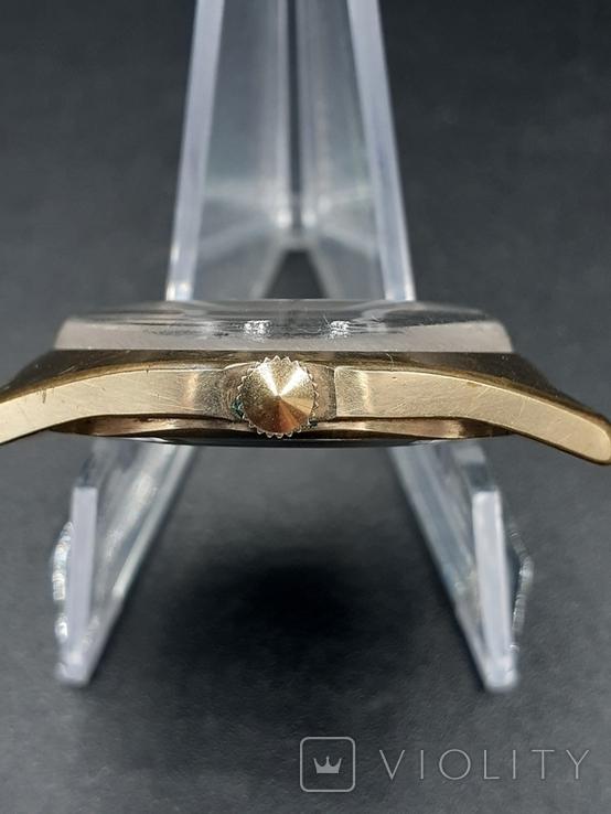 Полет 17 камней в позолоченном корпусе + золотая заводная головка, фото №6
