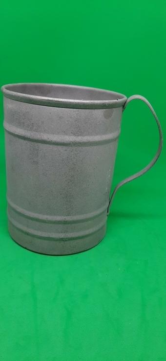 Чашка металл большая, фото №2