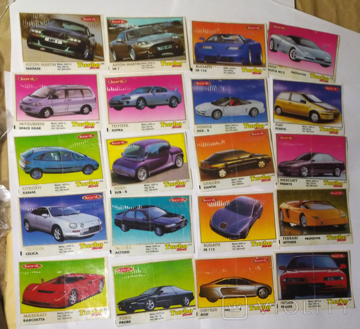 25 вкладышей Turbo Super, фото №3