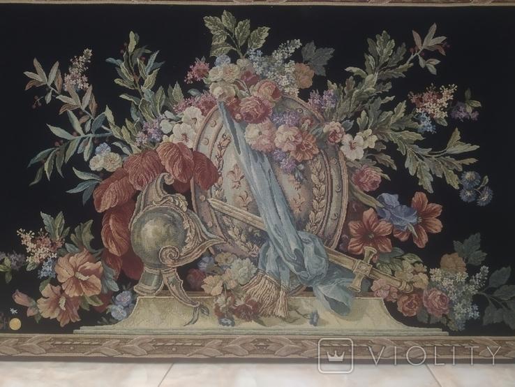 Рыцарские Шлем Щит и Меч в цветах Франция Гобелен настенное украшение клеймо 67,5х106,5, фото №3