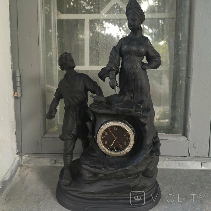 Хозяйка медной горы,Данила-мастер статуэтка ,каминные часы, чугун, фото №2