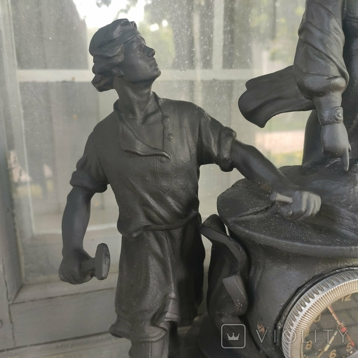 Хозяйка медной горы,Данила-мастер статуэтка ,каминные часы, чугун, фото №4